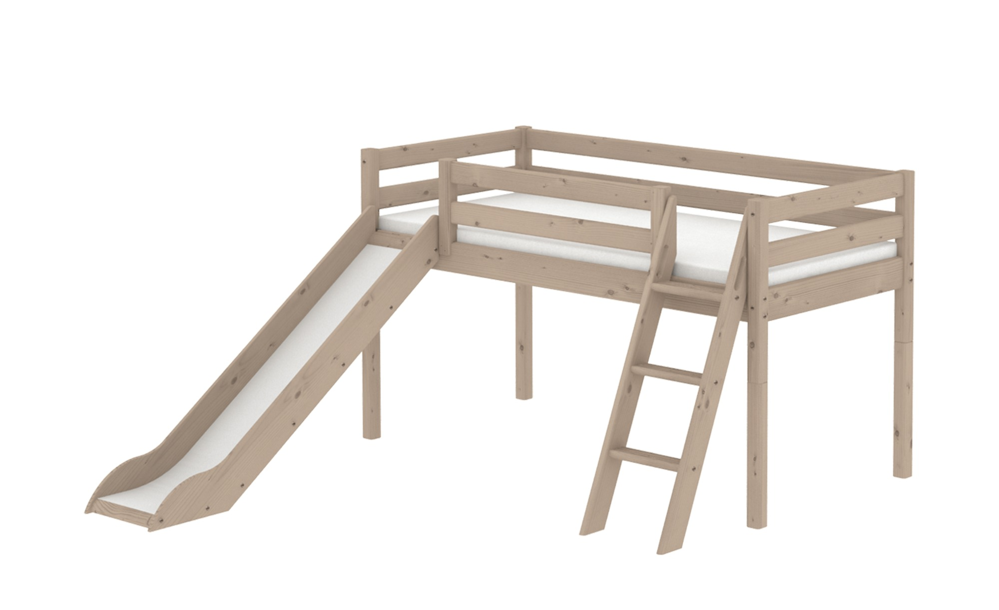 FLEXA Classic-Hochbett, halbhoch  Flexa - holzfarben - 249 cm - 120 cm - Kindermöbel > Kinderbetten > Hochbetten - Möbel Kraft