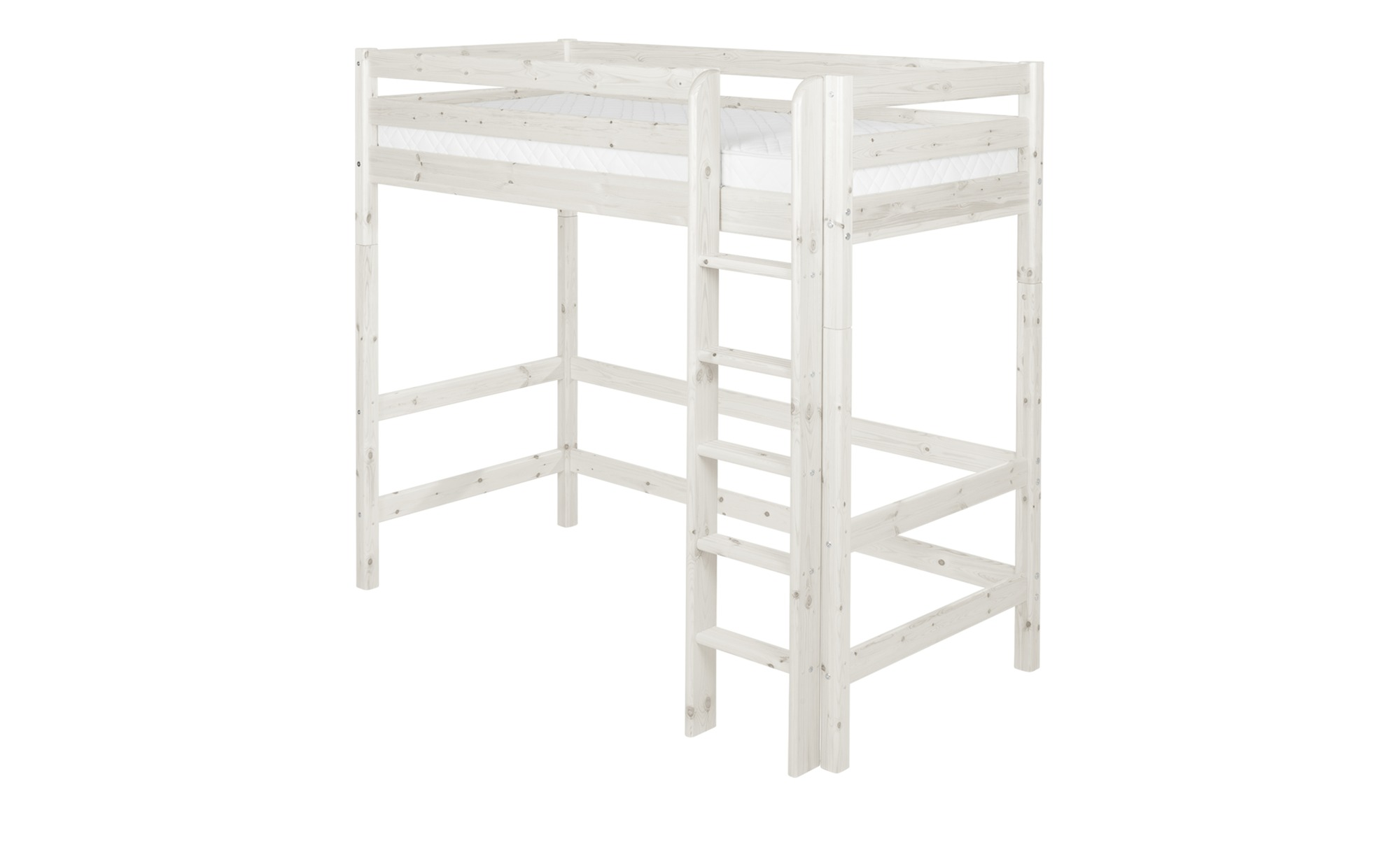 FLEXA Hochbett  Flexa Classic - weiß - 110 cm - 185 cm - Kindermöbel > Kinderbetten > Hochbetten - Möbel Kraft