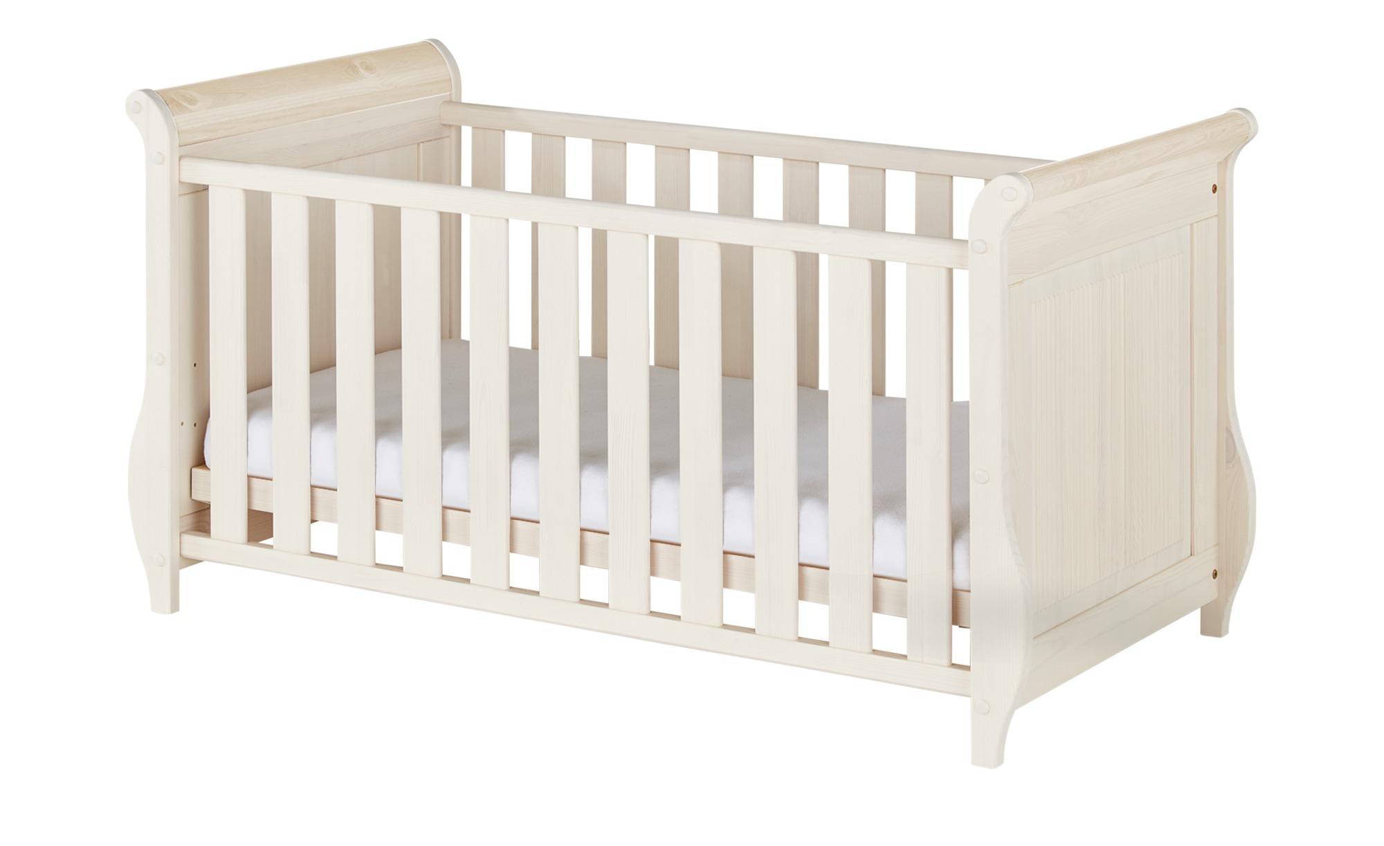 Babybett - weiß - 75 cm - 84 cm - Baby > Babymöbel > Babybetten - Möbel Kraft