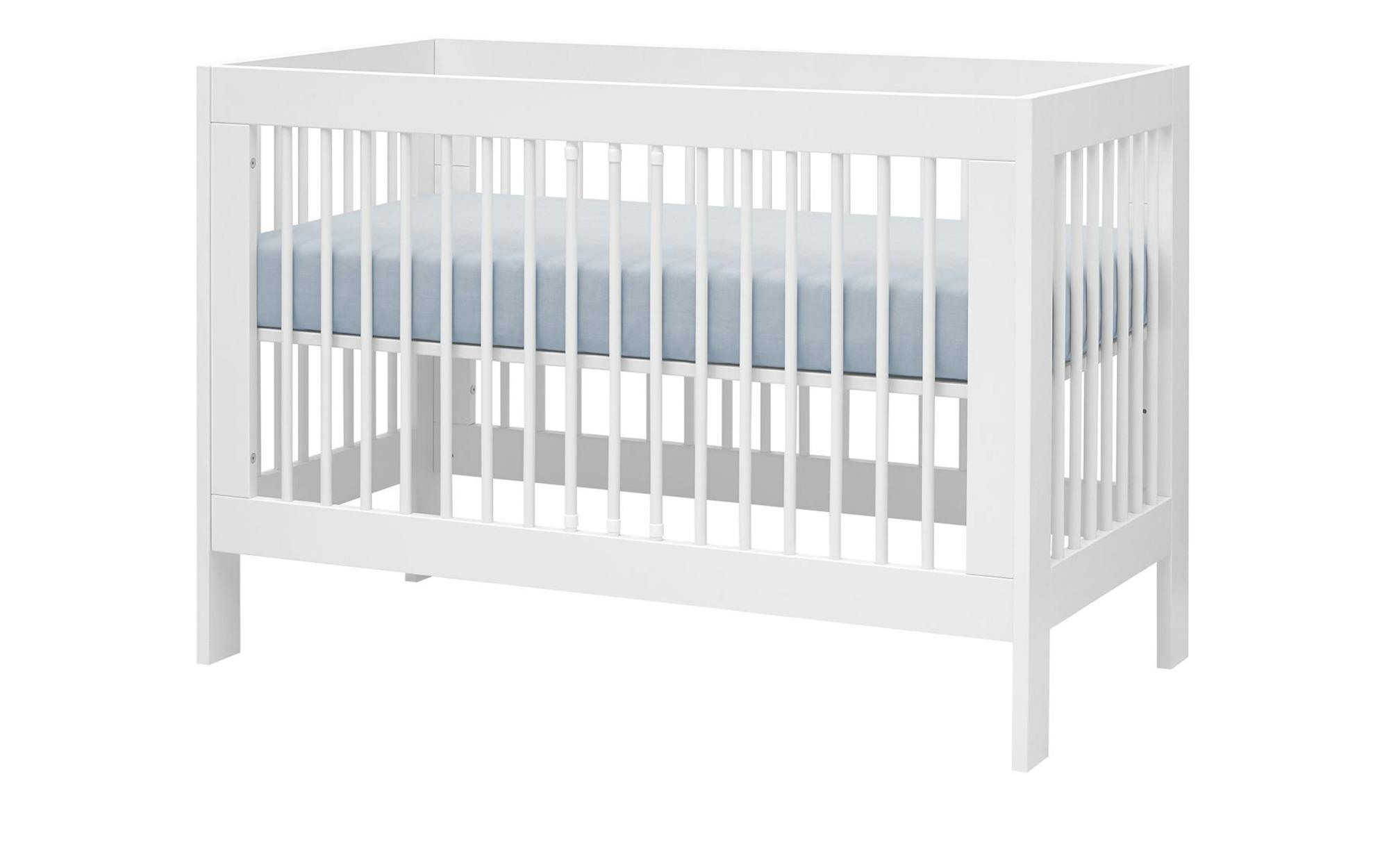 Babybett - weiß - 65,5 cm - 85 cm - 85 cm - Baby > Babymöbel > Babybetten - Möbel Kraft