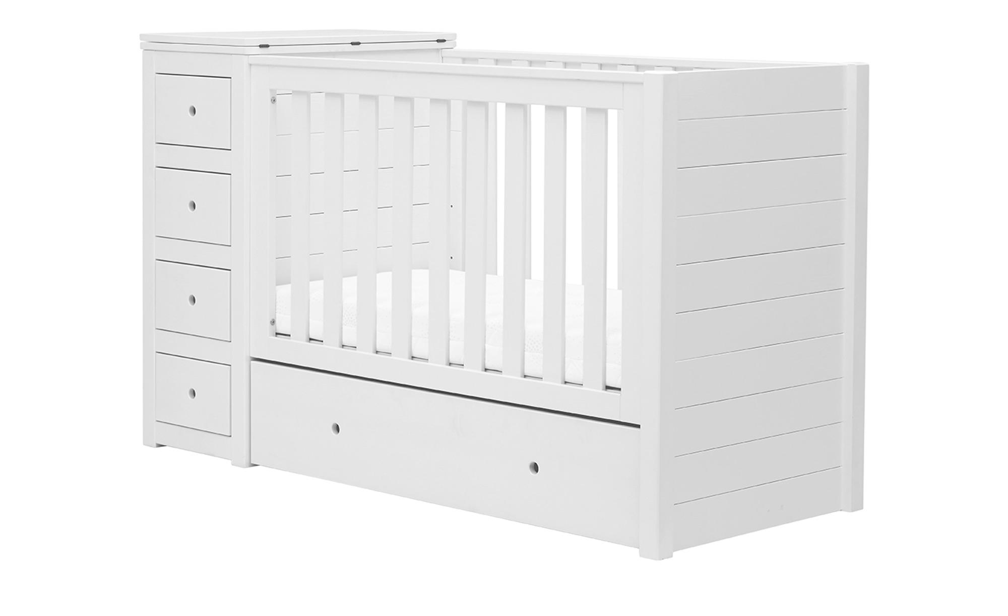 Babybett - weiß - 69 cm - 98 cm - 98 cm - Baby > Babymöbel > Babybetten - Möbel Kraft