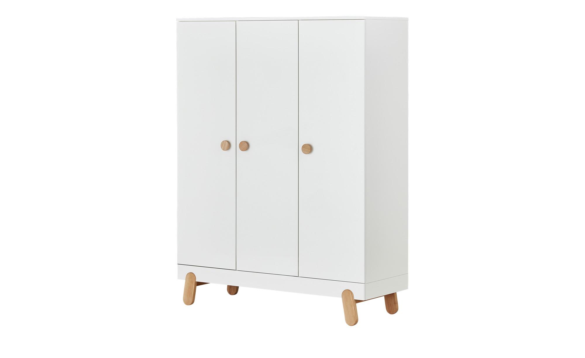 Kleiderschrank - weiß - 55 cm - 186 cm - 55 cm - Schränke > Kleiderschränke > Drehtürenschränke - Möbel Kraft