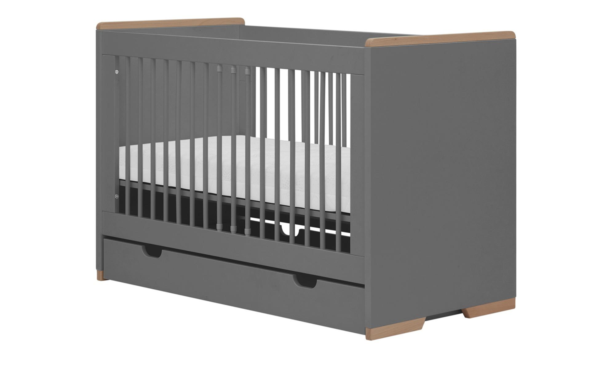 Babybett - grau - 125 cm - 87 cm - 66 cm - Baby > Babymöbel > Babybetten - Möbel Kraft