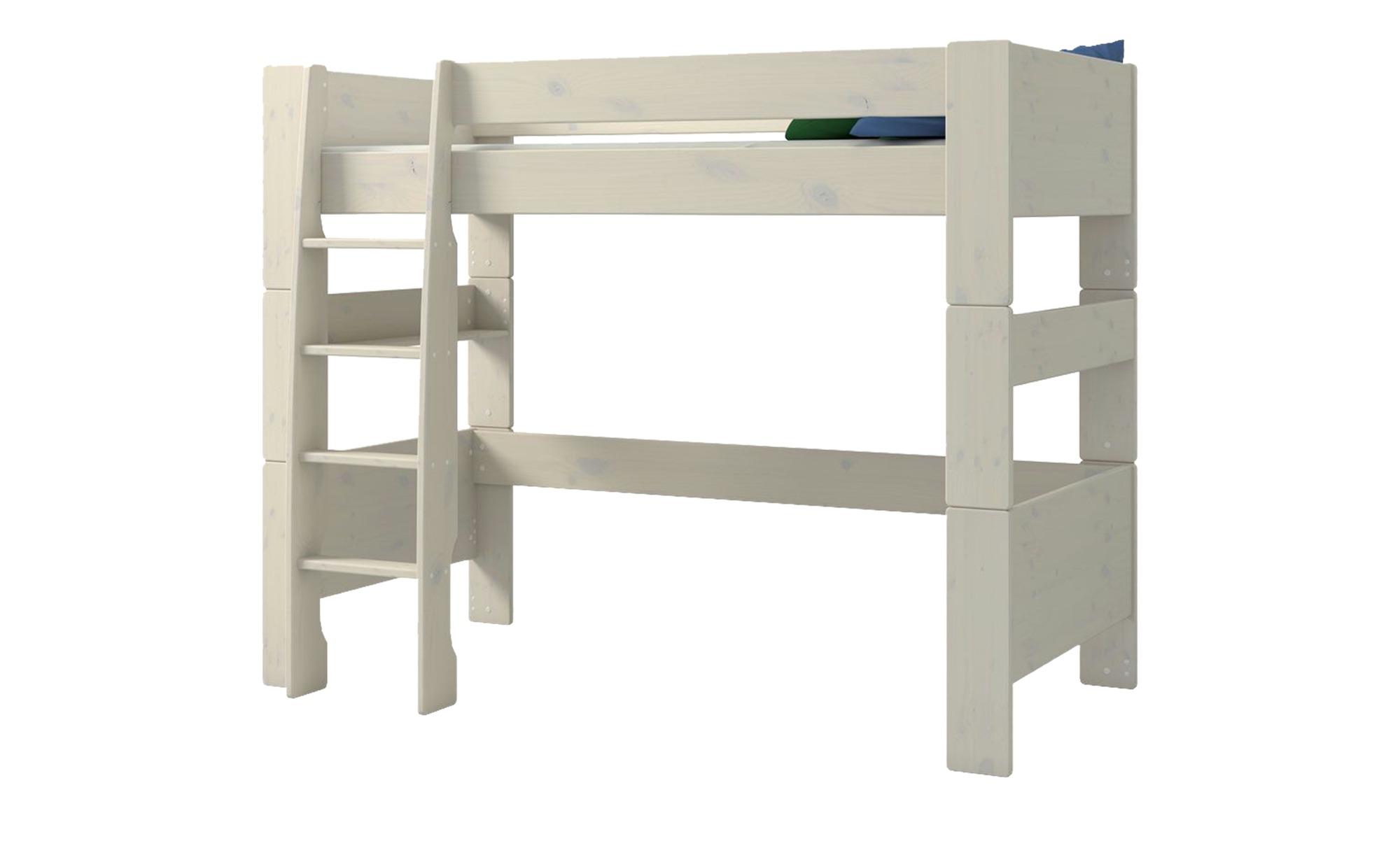 Hochbett - weiß - 206 cm - 164,3 cm - 114 cm - Kindermöbel > Kinderbetten > Hochbetten - Möbel Kraft