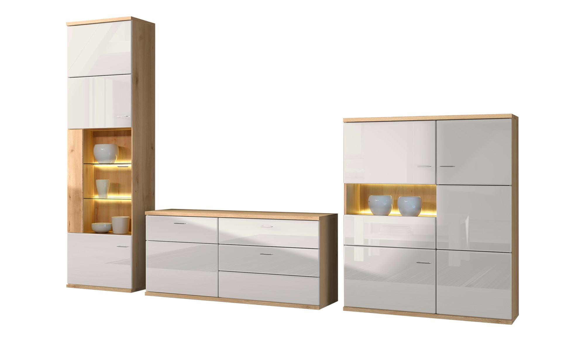 Wohnwand  Largo - 300 cm - 216 cm - 45 cm - Wohnwände > Anbauwände - Möbel Kraft