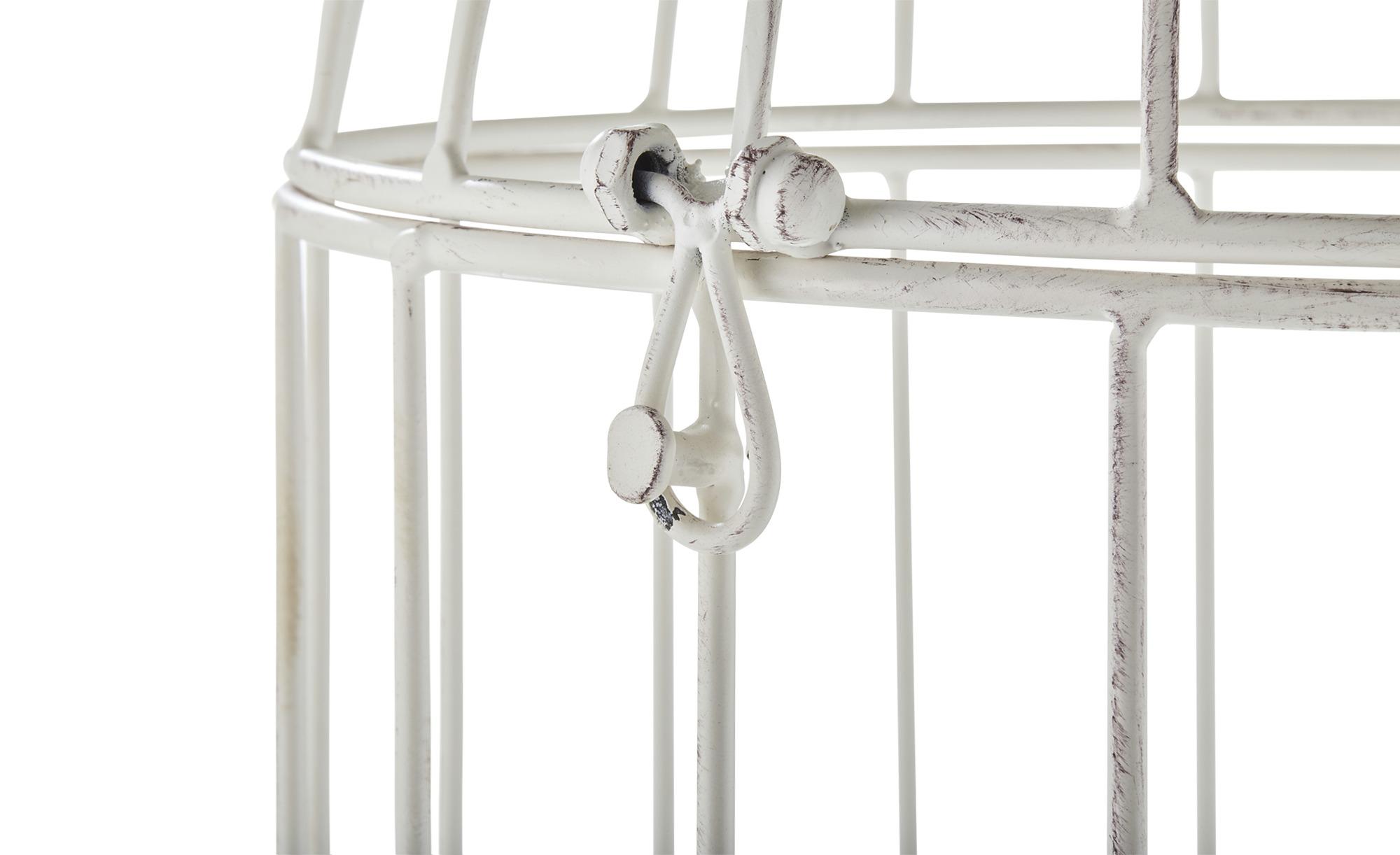 Deko Voliere - creme - Metall - 25 cm - 55 cm - 25 cm - Dekoration > Dekoartikel - Möbel Kraft