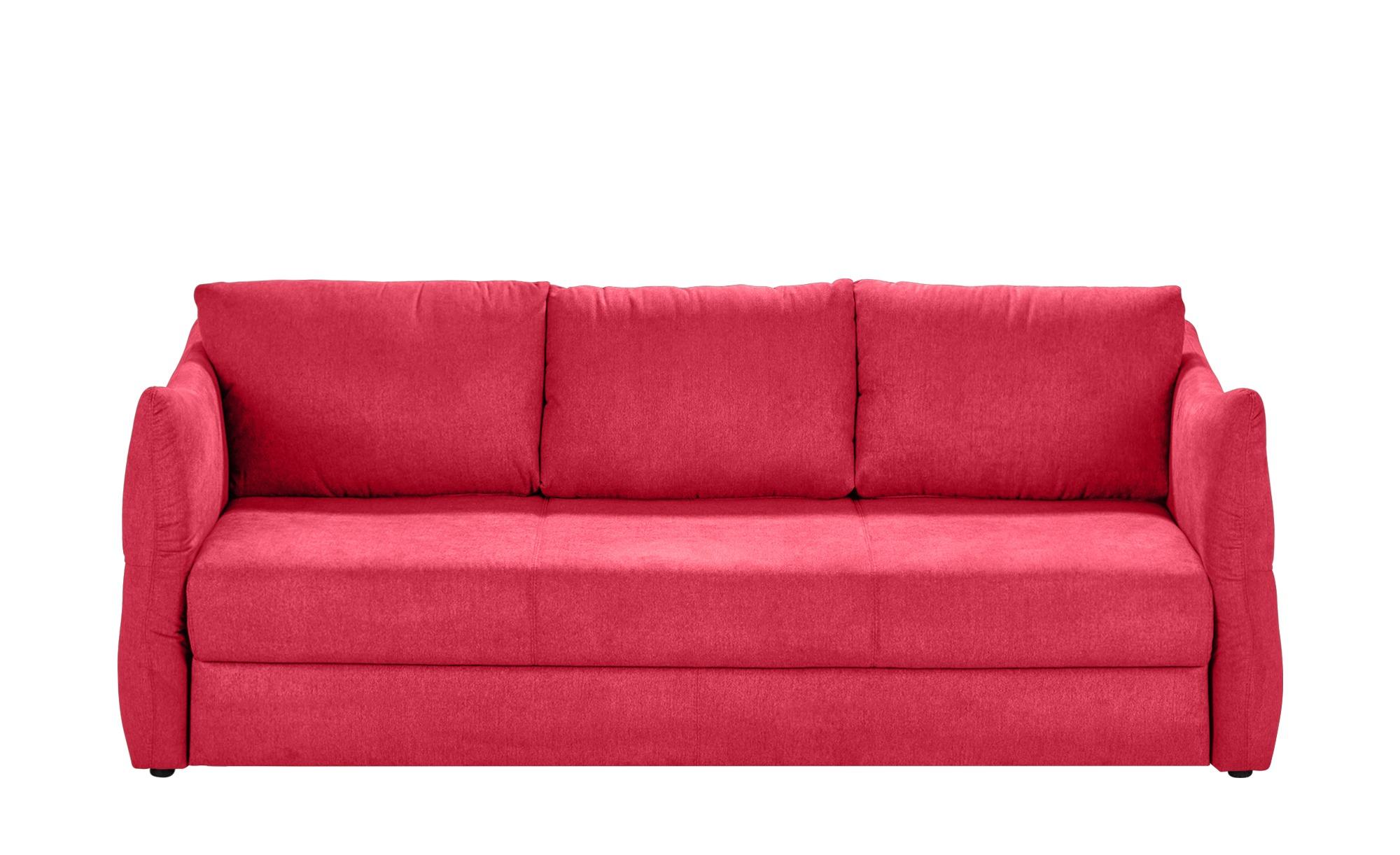 smart Sofa 3-sitzig - rot - 226 cm - 100 cm - 87 cm - Polstermöbel > Sofas > 3-Sitzer - Möbel Kraft