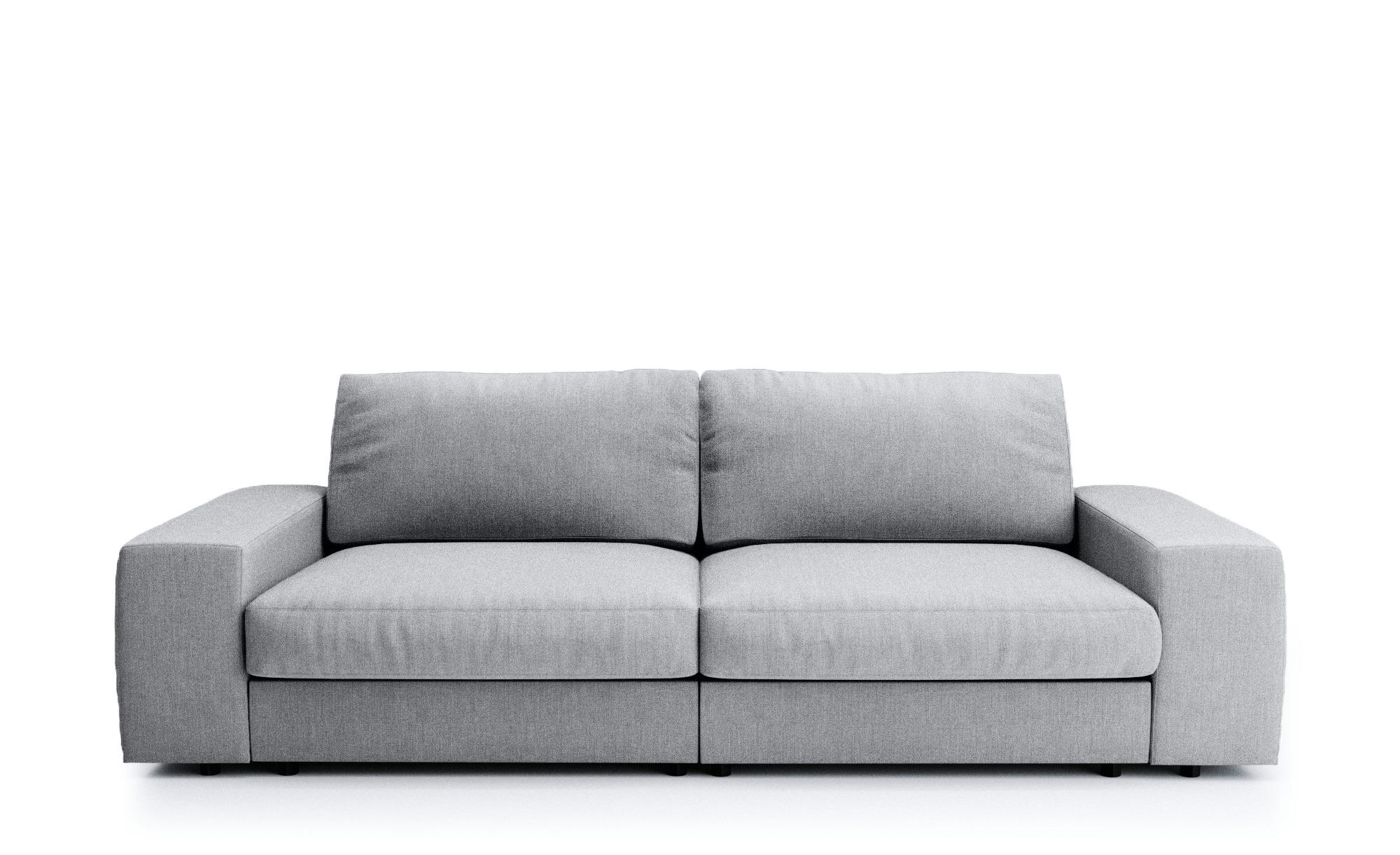 Big Sofa - grau - 262 cm - 88 cm - 120 cm - Polstermöbel > Sofas > Big-Sofas - Möbel Kraft