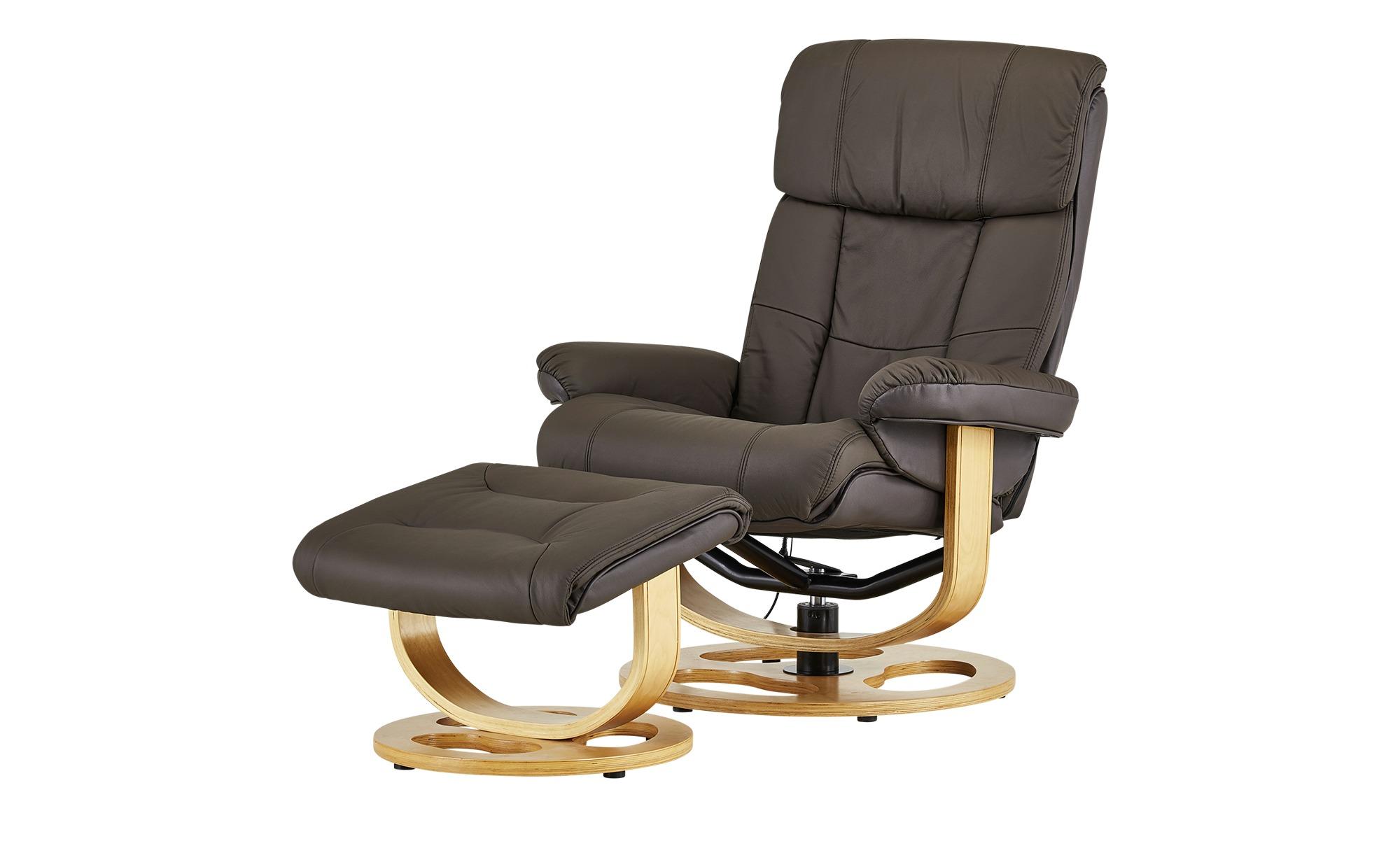 Massagesessel - braun - 85 cm - 107 cm - 89 cm - Polstermöbel > Sessel > Ledersessel - Möbel Kraft