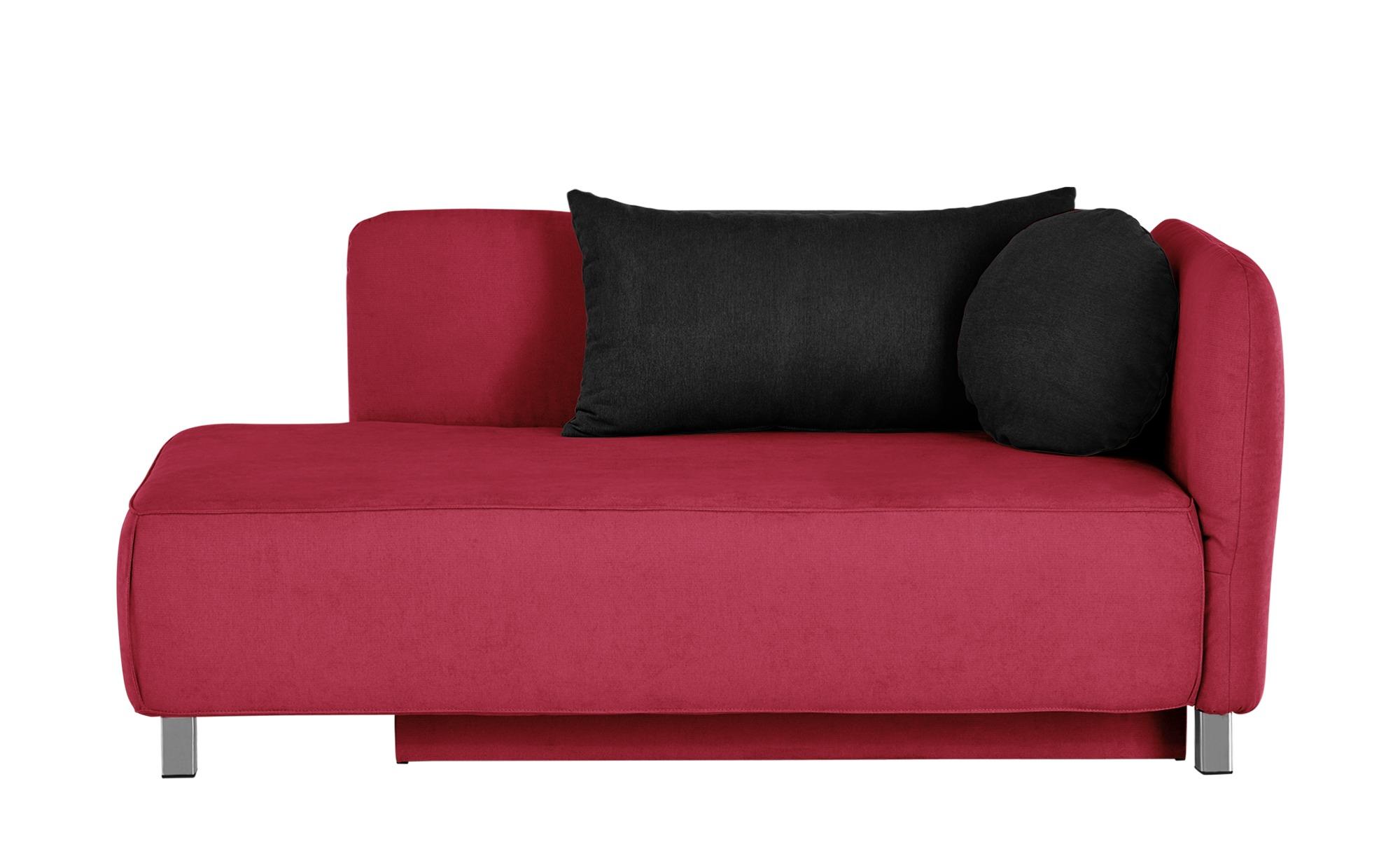 Schlafsofa - rot - 170 cm - 83 cm - 90 cm - Polstermöbel > Sofas > Einzelsofas - Möbel Kraft