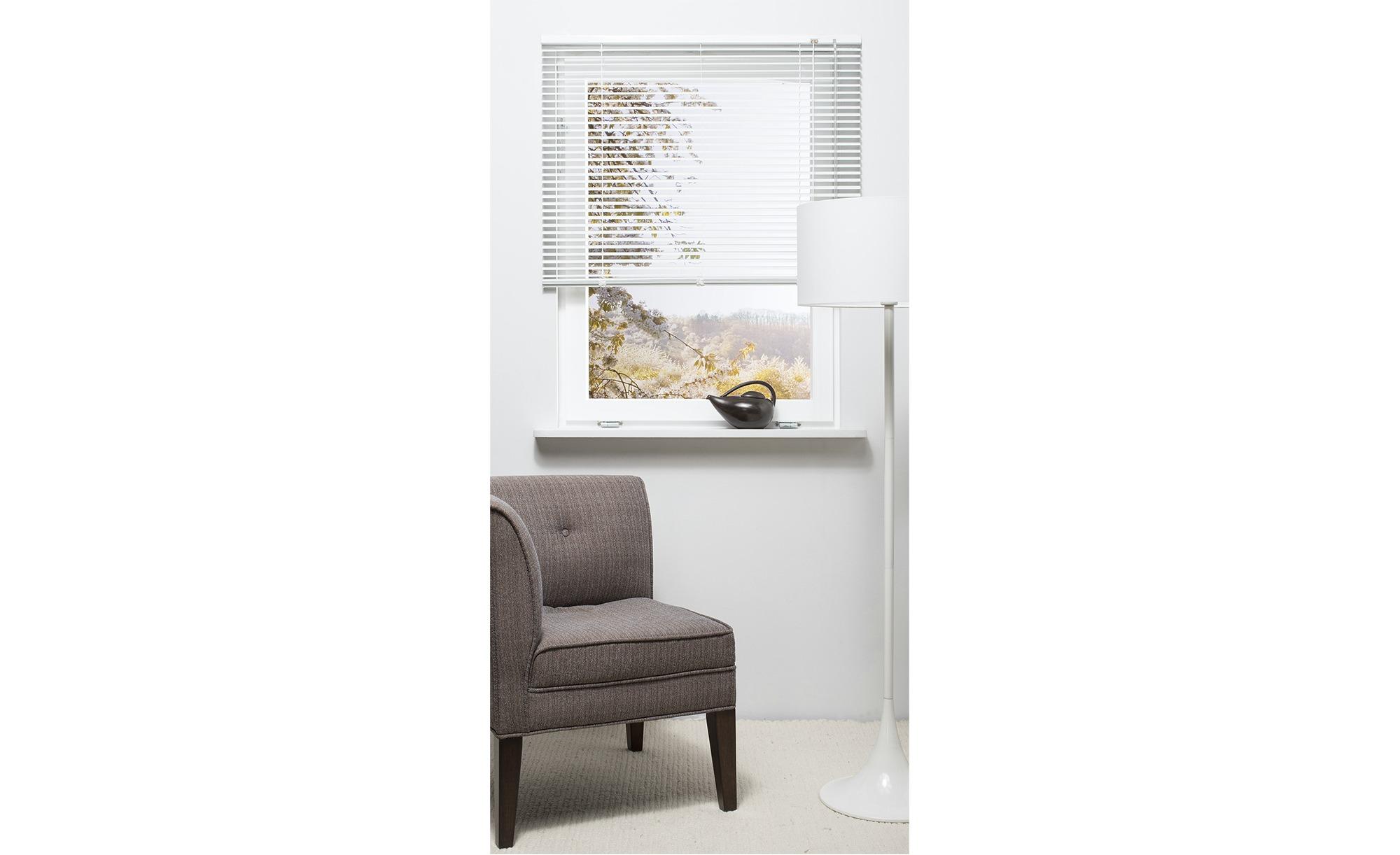 HOME STORY Jalousie Aluminium - weiß - Polyester - 45 cm - Gardinen & Vorhänge > Rollos & Sonnenschutz > Jalousien - Möbel Kraft