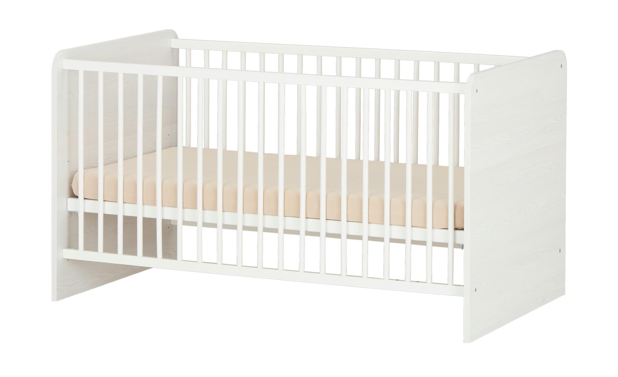 Babybett  Luca - weiß - 80 cm - 82 cm - 82 cm - Sconto