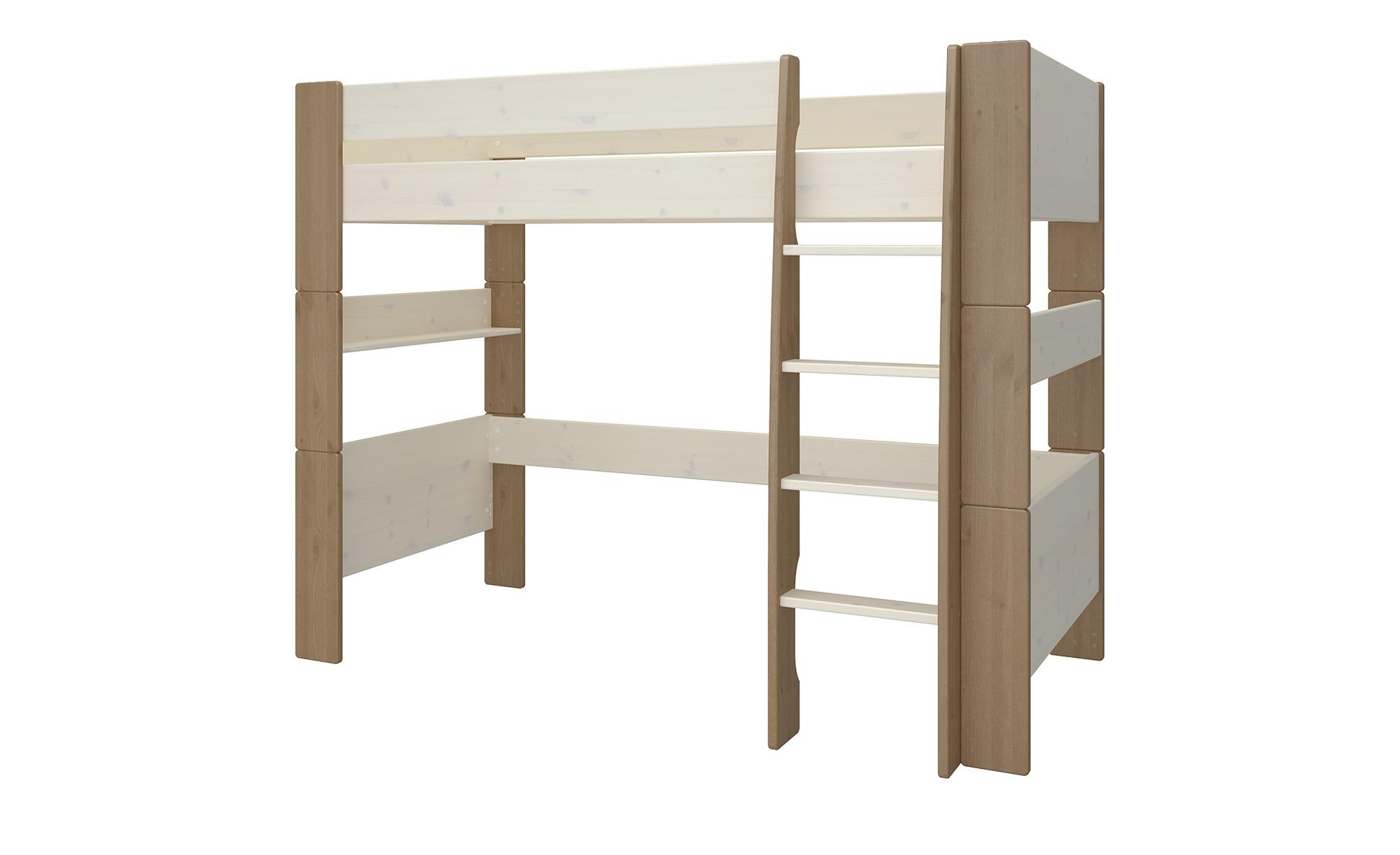 Hochbett  For Kids - weiß - 206 cm - 164,3 cm - 114 cm - Sconto