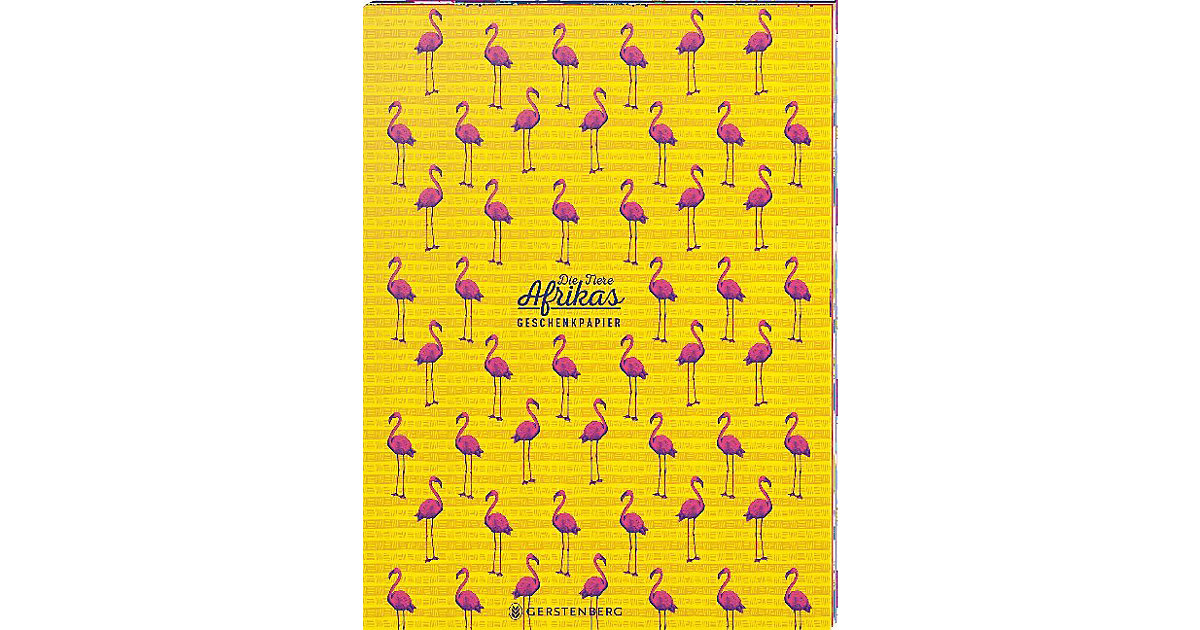 Die Tiere Afrikas Geschenkpapier-Heft Motiv Flamingo