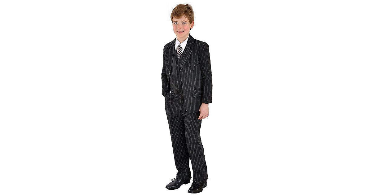 family-trends Festtagsanzug im 5-teiligen Set im eleganten Look Anzüge schwarz Gr. 128/134 Jungen Kinder