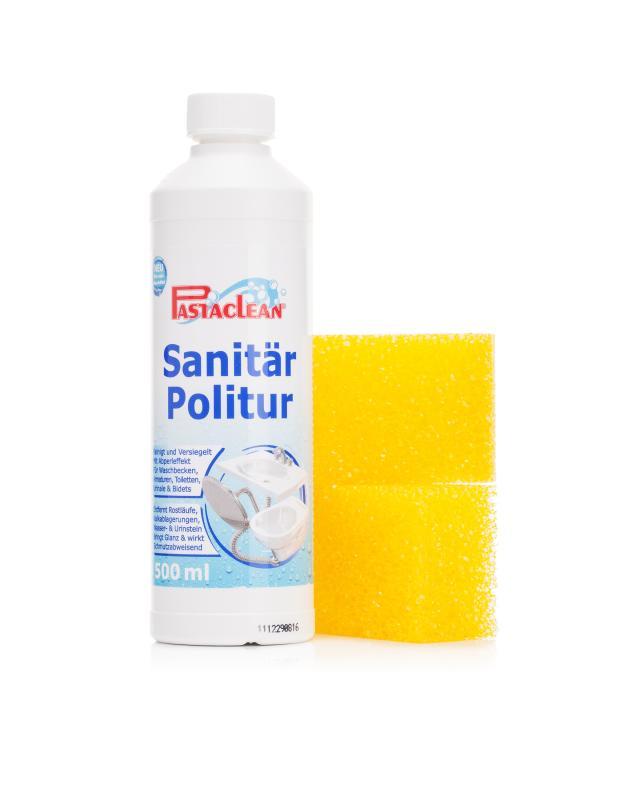 Pastaclean Sanitärpolitur, 500 ml & 2 Schwämme