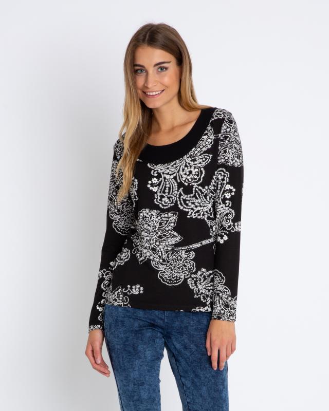 Shirt Paisley-Blumen-Druck
