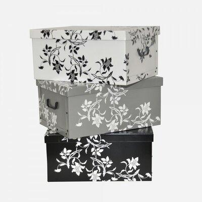Box-Set Barcok Blumen aus Holzwerkstoff