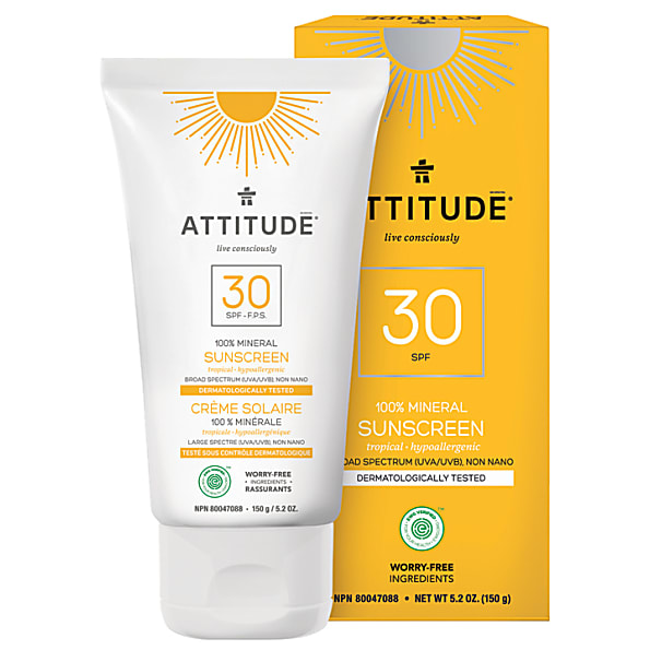 Attitude 100 % Mineral Sun Screen LSF 30 - Mineralischer Sonnenschutz