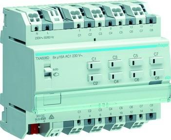Hager /Schaltausgang KNX Rollo txa608d Easy 8/4x 16Drum Schalten A-C/Ja