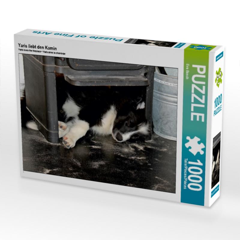 CALVENDO Puzzle Yaris liebt den Kamin 1000 Teile Lege-Gr��e 64 x 48 cm Foto-Puzzle Bild von Busch Eva