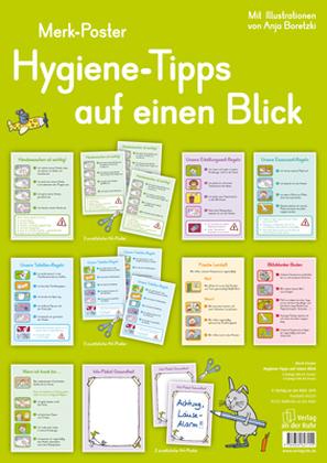 Hygiene-Tipps auf einen Blick, 12 A3-Poster