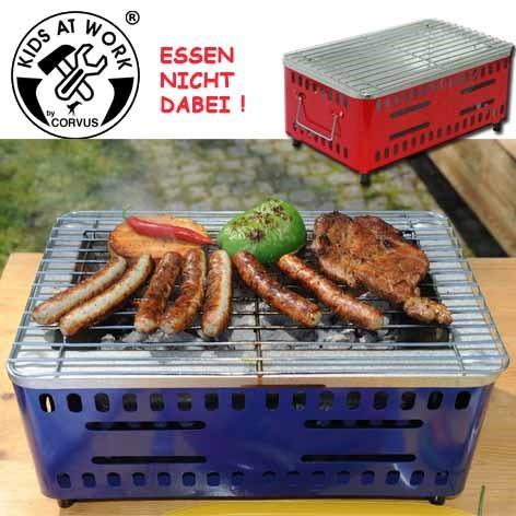 Corvus A600153 - der kleine Grill, Holzkohle-Grill, sortiert