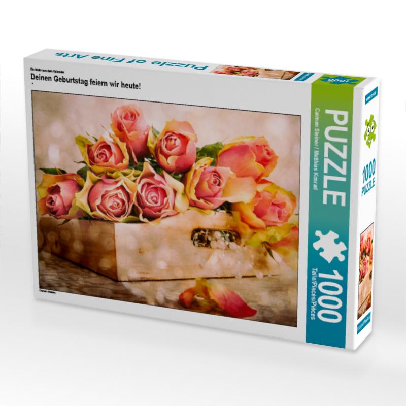 CALVENDO Puzzle Deinen Geburtstag feiern wir heute! 1000 Teile Lege-Gr��e 64 x 48 cm Foto-Puzzle Bild von Steiner / Matthias Konrad Carm