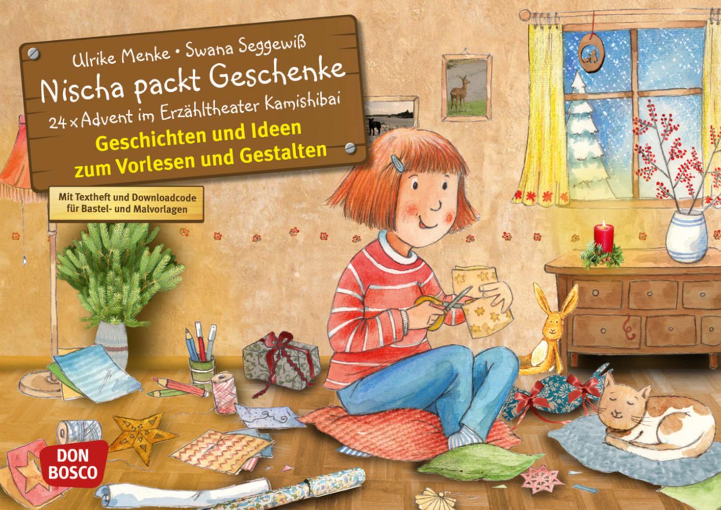 Nischa packt Geschenke, Kamishibai Bildkartenset