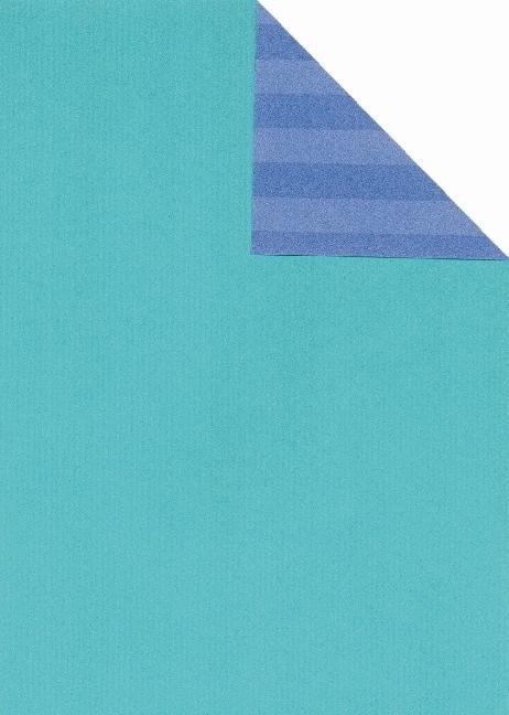 Geschenkpapier VT t�rkis-ST blau we., 25 Bogen (70 x 100 cm)