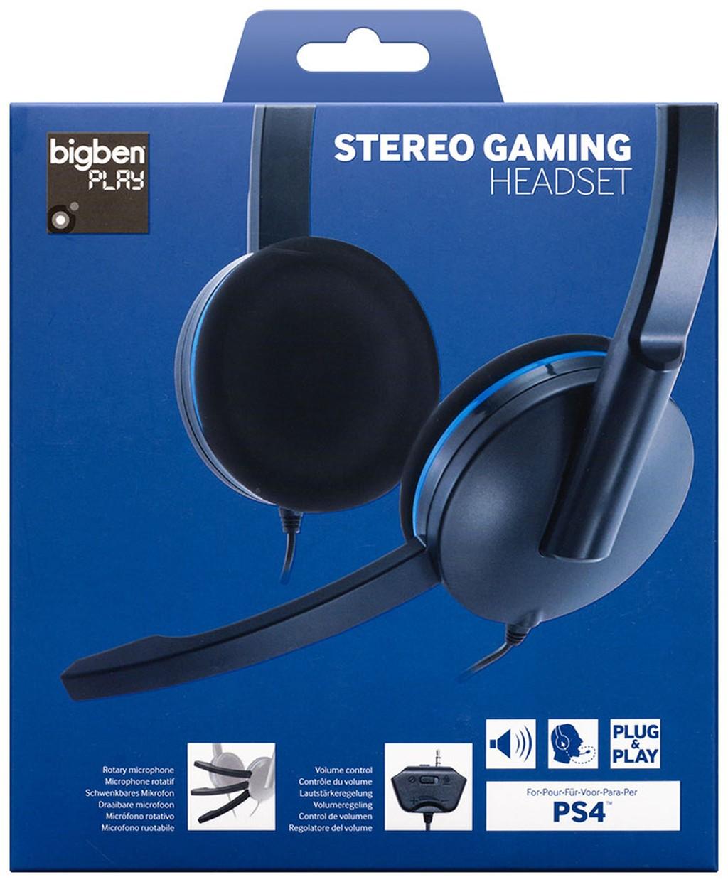 Stereo Gaming Headset f�r PS4, Kopfh�rer mit Mikrofon, kabelgebunden