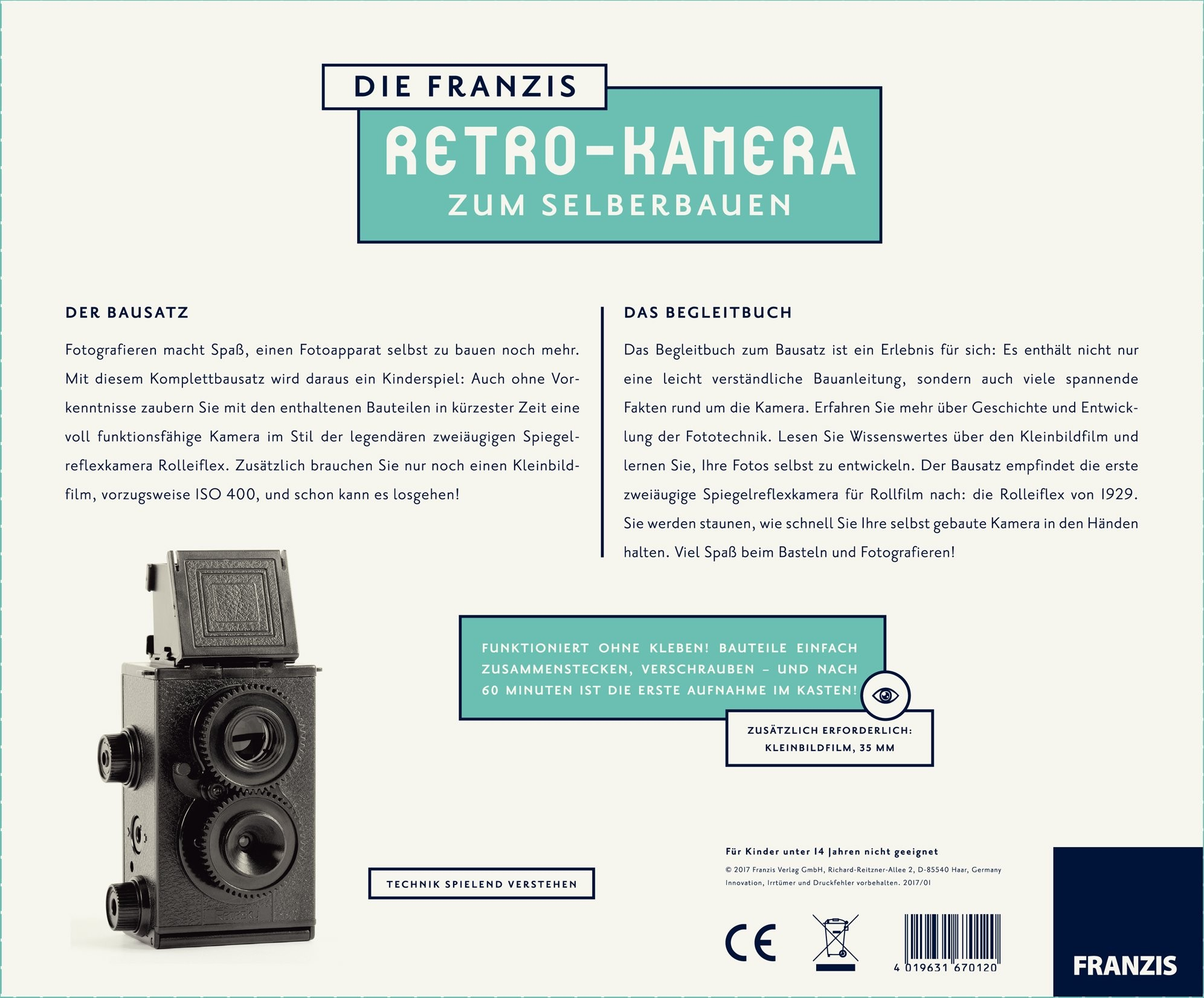 Retro-Kamera zum Selberbauen, Bausatz