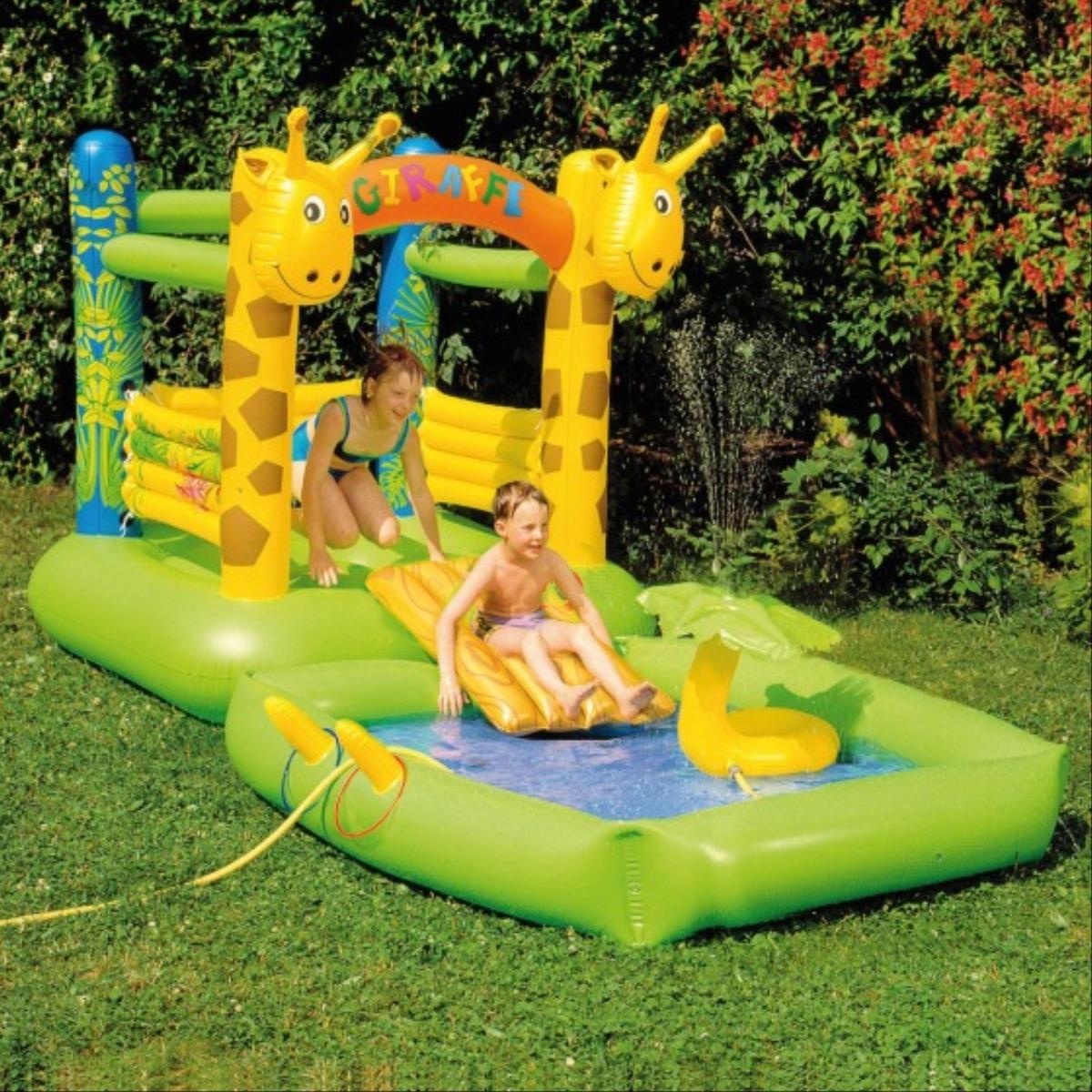 H�pfburg+Pool Giraffe m.Spr�hfunktion