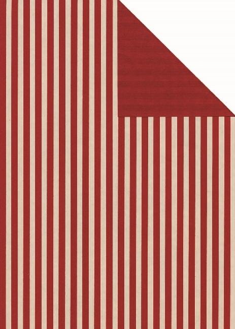 Geschenkpapier Leer kitt-rot we., 25 Bogen (70 x 100 cm)