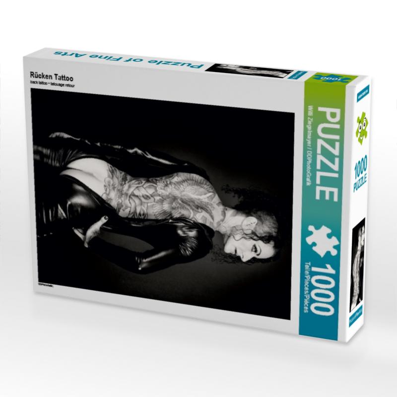 CALVENDO Puzzle R�cken Tattoo 1000 Teile Lege-Gr��e 48 x 64 cm Foto-Puzzle Bild von Ziegelmayer / DDPhotoGrafik Wi