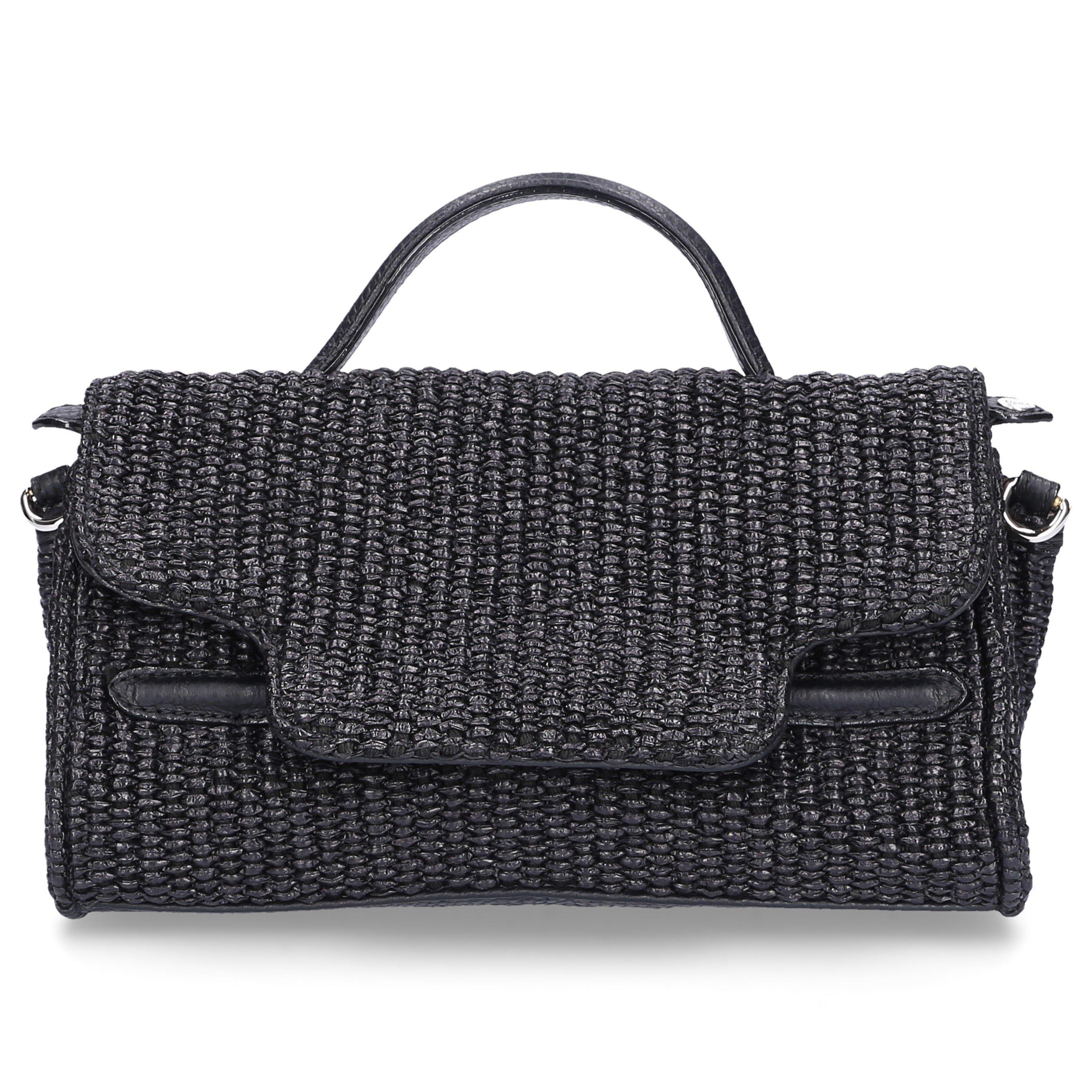 Zanellato Handtasche NINA BABY Baumwolle Logo schwarz
