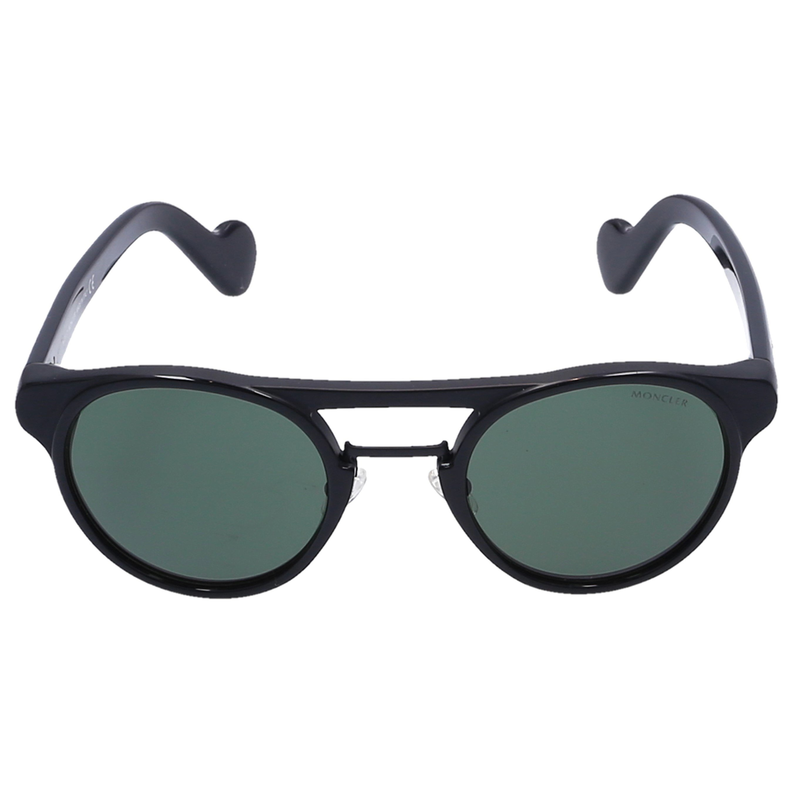 Moncler Sonnenbrille Round 019 Acetat schwarz