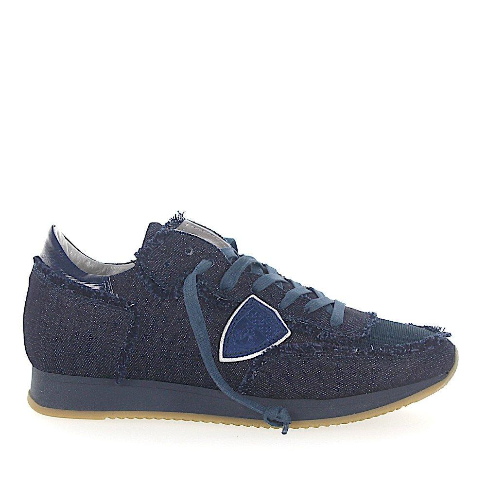 Philippe Model Sneaker TROPEZ Jeans dunkelblau Mesh
