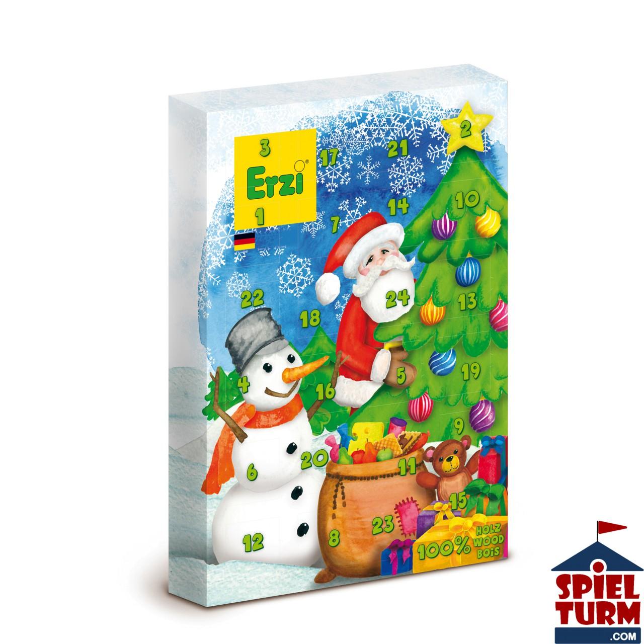 Erzi 28252 - Adventskalender mit Holz Füllung für Kaufläden